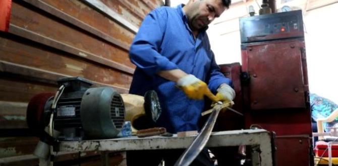 Fiyatını fazla bulduğu bıçağı kendi üretti, satışına başladı