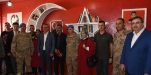 Şehit Jandarma Uzm. Sezer Aydemir Adına Kütüphane Açıldı