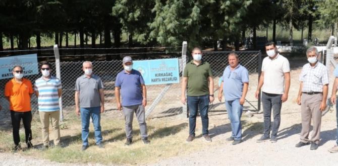 Kırkağaç'ta Mezarlıkların Güvenliği Sağlandı